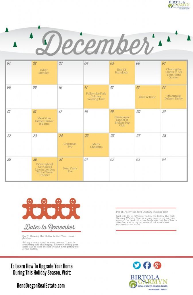 Holiday Calendar Template Bend 1