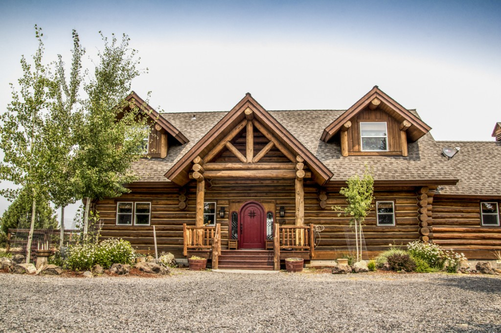 Custom Log Home For Sale!